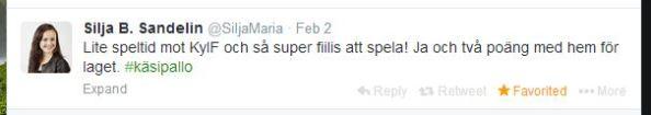 2014-02-02 KyIF-HIFK @SiljaMaria