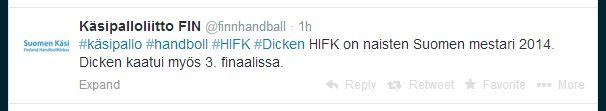 2014-04-24 HIFK-Dicken @finnhandball