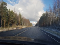 After Jyväskylä we had great conditions to drive in.