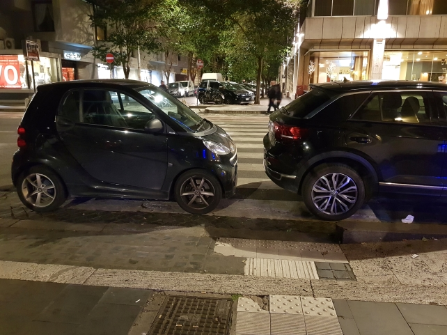 Italians park differently then the Finns.