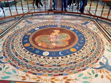Even the floors had astonishing artwork.