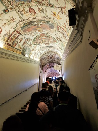 Stairs leading to the Capella Sistina