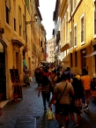 One of many many streets of downtown Rome, very charming.