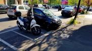 Parking Italian style. Still seemed funny for us Finns.