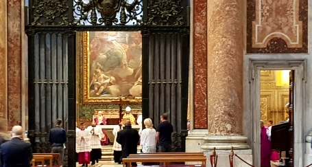 The ceremony where we saw Cardinal Francis Arinze.