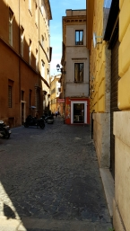 Alleys are beautiful, and in some towns I've visited, they are deserted, but in Rome they weren't that much.