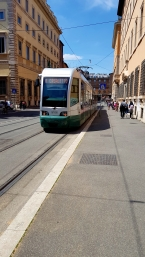 Italian tram. Did not know they existed.