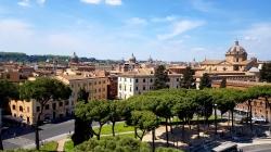 View from the top of Altare della Patria.