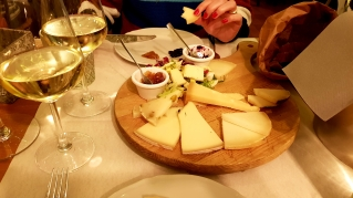 Starter cheese platter. Very good cheeses.