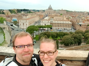 Us and in the backround Vatican City.