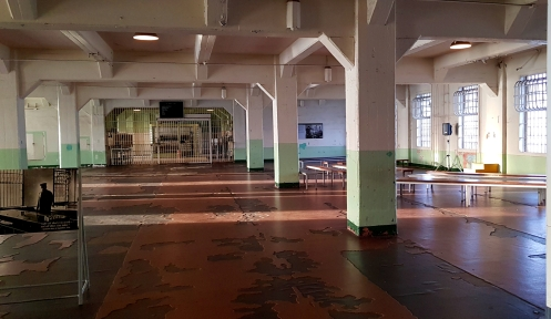 Dining hall for the prisoners.