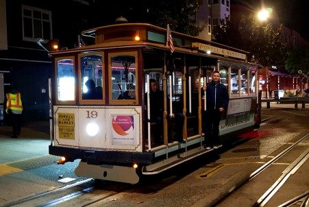 With this beautiful old cable car, we got to travel almost from end to end of the route.