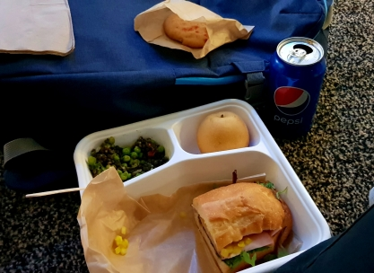 A typical lunch, included in your badge purchase.