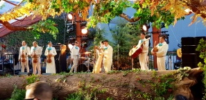 Mariachi band performed outside for Dreamforce visitors.