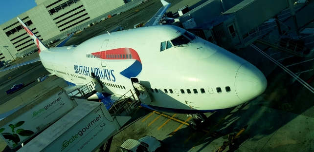 I was glad and eager to get to fly for the first time a jumbojet, or Boeing 747.