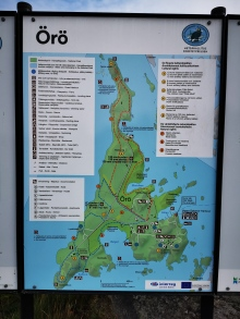 Map of Örö.